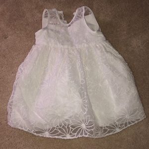 Toddler girl white dress